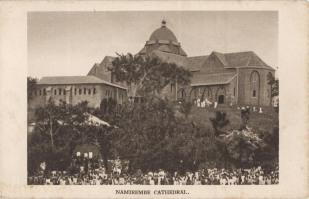 Namirembe Cathedral BW postcard