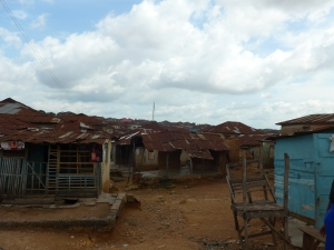 Ibadan iron sheet panorama